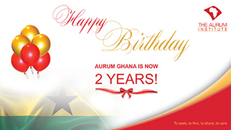 13 November- marks the second year of Aurum Ghana's existence